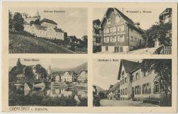 Obertsrop I. Murgtal  Hotel Blume Gasthaus Z. Rose Wirtschaft Z. Strauss - Allemagne