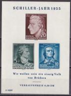 Wen_ DDR -  Mi.Nr. 464 - 466 B Block 12  X - Ungebraucht Mit Falzrest MH - Plattenfehler Abart - [6] Repubblica Democratica