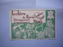 Buvard Publicitaire  Maroquinerie Leclère De Paris à Nimes - M