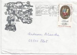 FLAMME DE TREGUNC (FINISTERE) SUR LETTRE DECOREE 1989 - Marcophilie (Lettres)