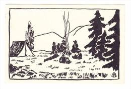 AK Motiv Pfadfinder - Ges. 8.10.1927 Basel 12 - Scouting