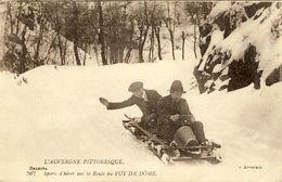 63 - Sports D'hiver Sur La Route Du Puy De Dôme - Auvergne Types D'Auvergne