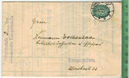 Geschäftsstelle 2  Des Amtsgerichts Tangermünde 13.4.34Zustellbrief, Maße: 15 X 9,5 CmStempel, DienstmarkeZustand: Sehr - Mitteilung