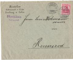 AS104       Deutsches Reich 1901 Brief Commercial  Limburg To Rennerod - Germania