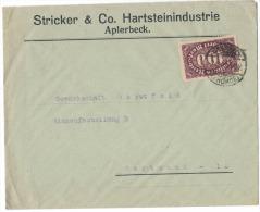 AS105       Deutsches Reich 1923 Brief Commercial  Aplerbeck To Dortmund - Deutschland
