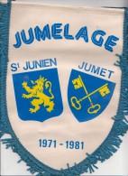 Fanion Jumet-st Junien 1981 - Obj. 'Souvenir De'