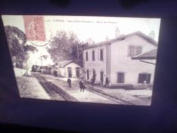 DIAPOSITIVE PHOTO DE CARTE POSTALE ANCIENNE - HYERES GARE DE SAN SALVADOR-MONT DES OISEAUX (LOTAB29) - Diapositives