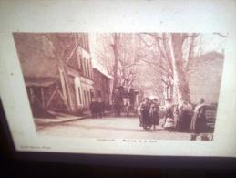 DIAPOSITIVE PHOTO DE CARTE POSTALE ANCIENNE - COGOLIN AVENUE DE LA GARE (LOTAB29) - Diapositives