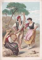 Chromo Le Tambour Basque (tambourin) (instrument De Musique) : Danse Napolitaine - Altri