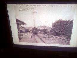DIAPOSITIVE PHOTO DE CARTE POSTALE ANCIENNE - COGOLIN GARE DU SUD-FRANCE (LOTAB29) - Diapositives