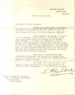 CARTA DE EUGEN MILLINGTON DRAKE AL GENERAL J. ESTEBAN VACAREZZA DONDE EN PARTE DEMUESTRA AL CONTRARIO A LO QUE DICEN MUC - Documentos Históricos