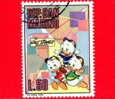 SAN MARINO - Usato - 1970 - Walt Disney (1901-66) - Cartoni - Comics - 50 L. • Qui, Quo, Qua - Used Stamps