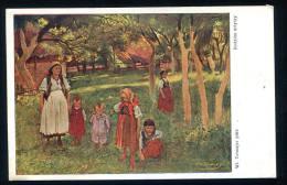 Tetmajer  Pinx . Rodzina Artysty ( La Famille Du Peintre )Ecrite De Sieradz En 1927. Polska - Polonia