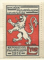 ERINNOFILO  LYON  EXPOSITION  PHILATELIQUE 1914 - Cinderellas