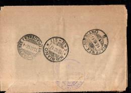 1917 PIACENZA ANNULLO FRAZIONATO ARRIVI E PARTENZE