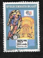 TIMBRE OBLITERE DE MADAGASCAR DE 1992 N� MICHEL 1401