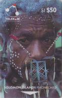 T�l�carte magn�tique GPT SALOMON 50 $ - Homme & COQUILLAGE - Man of Santa Cruz & SHELL SOLOMON phonecard