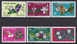 FLORES - REPUBLICA DE GABON 1972 - Yvert #283/88 - MNH ** - Vegetales