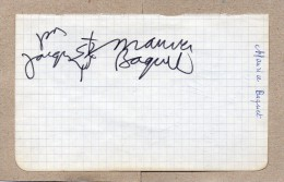 2 AUTOGRAPHES SUR PAPIER RECTO/VERSO - MAURICE BAQUET + GEORGES MILTON - Autographes