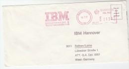 1977 DENMARK COVER METER SLOGAN Pmk IBM  DATA PROCESSING COPENGAHAN   To IBM Germany Computing - Computers