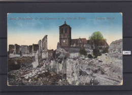 FRANCE 1916, Feldpost, 2. JAN. 1916, RETHEL, KIRCHE, IN DER TRUMMERN, USED, WEAR CORNERS, See Scans - Rethel
