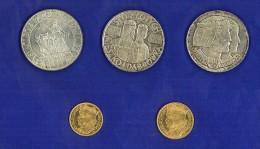 POLONIA 1925 + 1966  - 4 RARE EMISSIONI IN ARGENTO E ORO - NON CIRCOLATE  2 PROVE - UNC . VEDI DESCRIZIONE - NON PULITE - Polonia