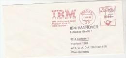1982 GERMANY  COVER METER SLOGAN Pmk IBM BREMEN   To IBM Hannover Computing - Computers