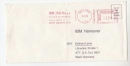 1978 ITALY COVER METER SLOGAN Pmk IBM ITALIA MESTRE To IBM Germany  Computing - Informática