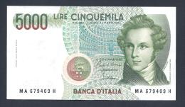 BANCA D ITALIA 5000 LIRE - [ 2] 1946-… : Repubblica