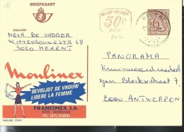 Publibel Obl. N° 2724 + P 016 ( Moulinex) Obl: Herent - Entiers Postaux