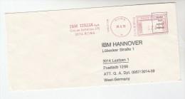 1978 ITALY COVER METER SLOGAN Pmk IBM ITALIA ROME  To IBM Germany  Computing - Computers
