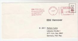 1977 ITALY COVER METER SLOGAN Pmk IBM ITALIA PADOVA  To IBM Germany  Computing - Computers