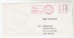 1976 GB COVER METER SLOGAN Pmk IBM GREENFORD  To IBM Germany  Computing - Computers