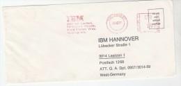 1977 GB COVER METER SLOGAN Pmk IBM NOTTINGHAM  To IBM Germany  Computing - Computers