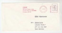 1976 GB COVER METER SLOGAN Pmk IBM BIRMINGHAM To IBM Germany  Computing - Computers