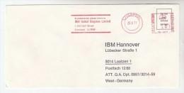 1977 GB COVER METER SLOGAN Pmk IBM LIVERPOOL To IBM Germany  Computing - Computers