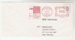 1975 SWITZERLAND COVER METER SLOGAN Pmk IBM  DATA PROCESSING BERN   To IBM Germany Computing - Switzerland