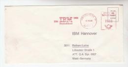 1985 Mannheim GERMANY COVER METER SLOGAN Pmk 'IBM GERMANY 1910 1985 '   To IBM Germany Computing - Computers