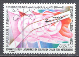 Tunisie YT N°885 Aviation Civile Et Météorologie Neuf ** - Tunisia (1956-...)