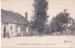 CPA 45 LOIRET - LA FERTE SAINT AUBIN - ROUTE DE LAMOTTE BEUVRON AUBERGE DU CHEVAL BLANC ANIMEE  B.E. 1928 - La Ferte Saint Aubin