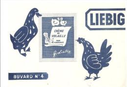 Buvard LIEBIG Crème De Volaille Pour 4 Personnes Buvard N°4 Des Années 1960 - Potages & Sauces