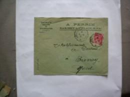 BARISEY AU PLAN A. PERRIN ENGRAIS GRAINS ET FOURRAGES ENVELOPPE CACHET CONVOYEUR CHALINDREY A TOUL DU 5-8 31 - France