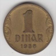 @Y@    Joegoslavie 1 Dinar  1938     (2972) - Yougoslavie