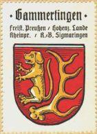 Werbemarke (Reklamemarke, Siegelmarke) Kaffee Hag : Wappen Von Gammertingen - Tea & Coffee Manufacturers