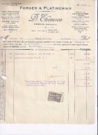 Factuur Forges & Platineries - Theux - 1925 - 1900 – 1949