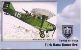 TURKEY PHONECARD BREGU XIX A-2 1921-37 AIRPLANE TR-C86 12/05,-275000pcs-USED(2) - Avions