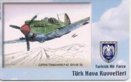 TURKEY PHONECARD CURTISS TOMMAHAWK P40 1941-49AIRPLANE TR-C136 5/06,-200000pcs-USED(2) - Avions