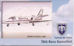 TURKEY PHONECARD CESNA CITATION II 1984 AIRPLANE TR-C190  10/06,-260000pcs-USED(2) - Avions