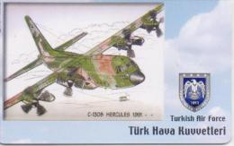 TURKEY PHONECARD C-130B HERCULES 1991 AIRPLANE TR-C198  11/06,-200000pcs-USED(2) - Airplanes