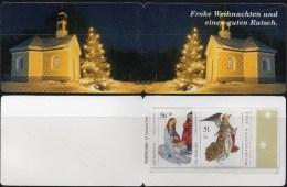 Weihnachten Deutschland Markenheft 2002 BRD Portocard 2285/6 ** 10€ Heilige Familie Carnet Christmas Booklet Of Germany - Noël